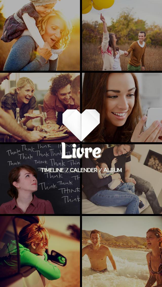プライベート無料日記 -Livre(リブリ)- 無料で日記、写真、カメラ(写真加工)、カレンダー、スタンプ,デコが使え、手帳に料理、育児、生理、家計簿(お小遣い)を記録のスクリーンショット_1