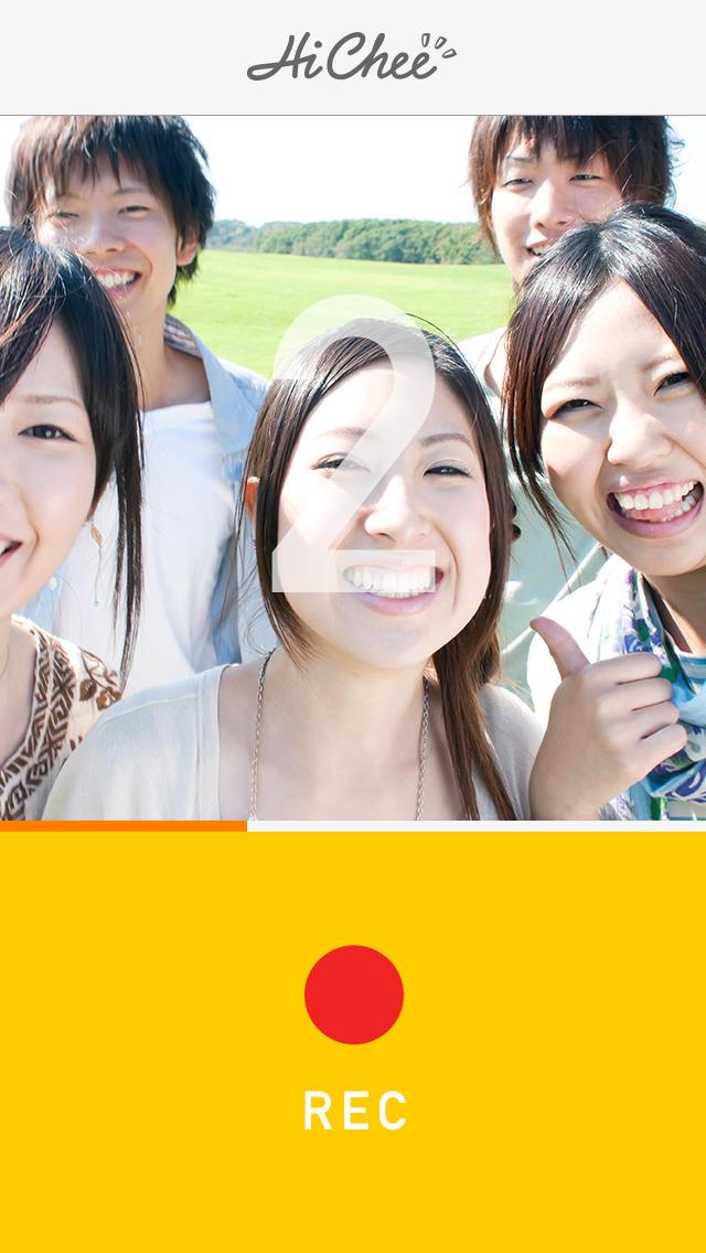 HiChee 〜「3,2,1,パシャ!」がムービーになる魔法のカメラアプリ〜のスクリーンショット_2