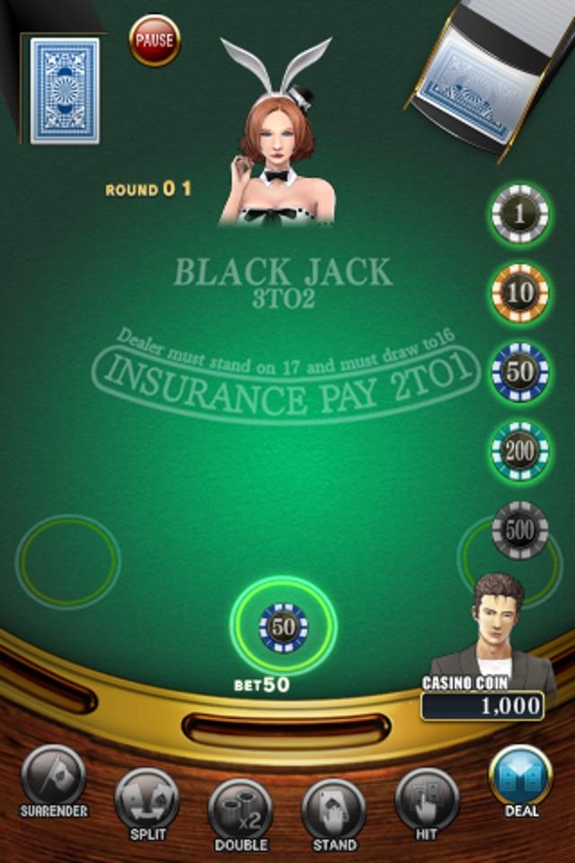 ブラックジャック[本格カジノゲーム]のスクリーンショット_3