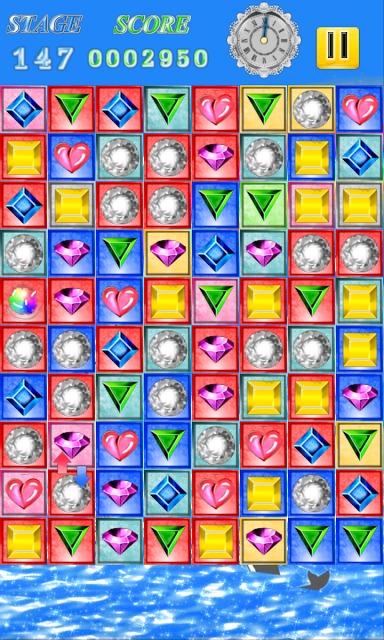 HAPPY JEWELS ノンストップ爽快宝石パズルゲームのスクリーンショット_2
