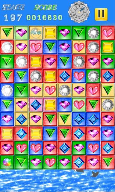 HAPPY JEWELS ノンストップ爽快宝石パズルゲームのスクリーンショット_5
