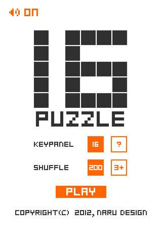 PUZZLE-16 FREEのスクリーンショット_1