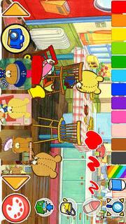 親子で一緒に楽しめる幼児・子供向け無料アプリ「がんばれ!ルルロロのぬりえ絵本」色彩感覚と感性を豊かにする知育学習のスクリーンショット_2