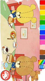 親子で一緒に楽しめる幼児・子供向け無料アプリ「がんばれ!ルルロロのぬりえ絵本」色彩感覚と感性を豊かにする知育学習のスクリーンショット_4