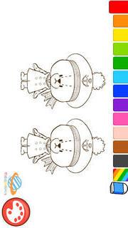 親子で一緒に楽しめる幼児・子供向け無料アプリ「がんばれ!ルルロロのぬりえ絵本」色彩感覚と感性を豊かにする知育学習のスクリーンショット_5