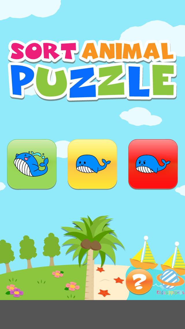 簡単スイスイどうぶつパズル!幼児・子供向け知育アプリ(無料)のスクリーンショット_1