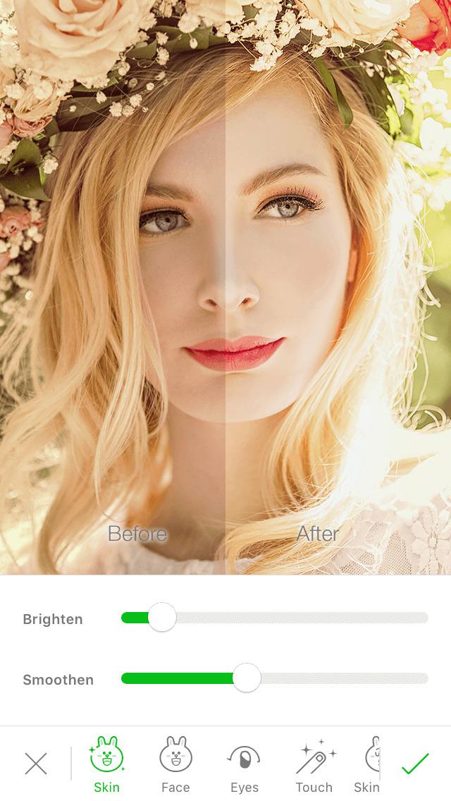 LINE Camera - 顔入れ替え、自撮り、動くスタンプのスクリーンショット_4