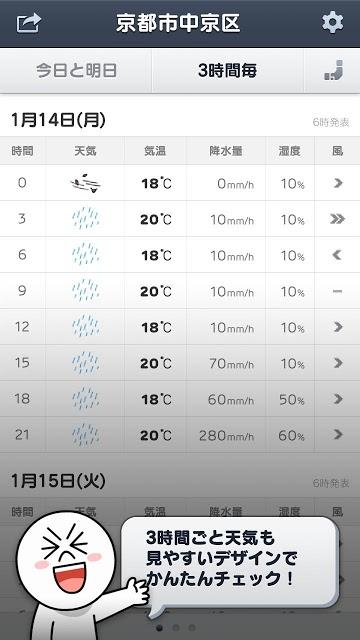 LINE 天気のスクリーンショット_4