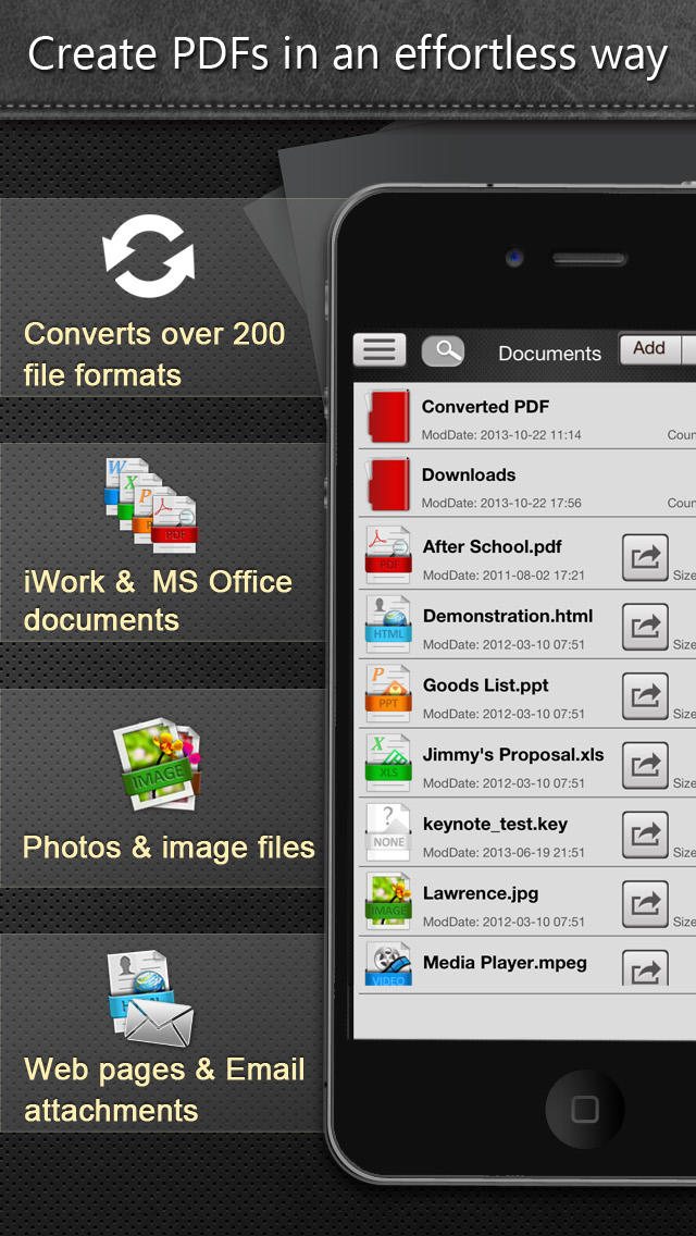 PDF Smart Convert - MS Office, iWork, Web Content, Clipboard, Image to PDFsのスクリーンショット_2