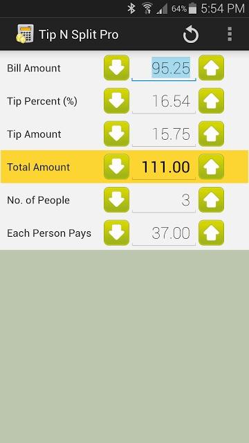Tip N Split Tip Calculatorのスクリーンショット_1