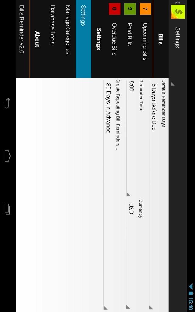 Bills Reminder 2.0のスクリーンショット_3