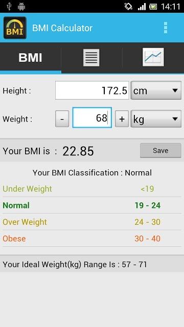 BMI Calculator - Track Weightのスクリーンショット_1