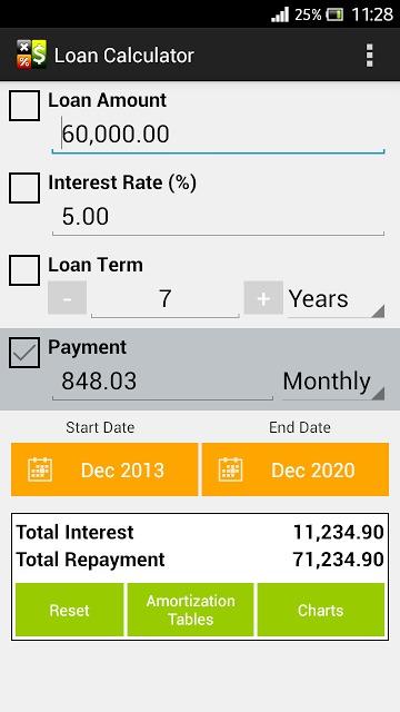 Loan Calculatorのスクリーンショット_1
