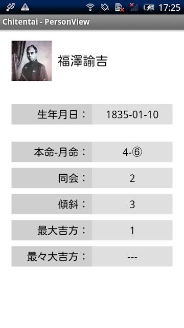 Chitentai 本命月命順アドレス帳のスクリーンショット_5