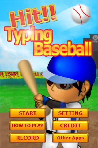 Hit!! Typing Baseballのスクリーンショット_1