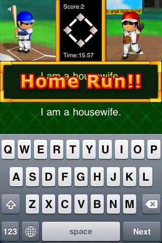 Hit!! Typing Baseballのスクリーンショット_3