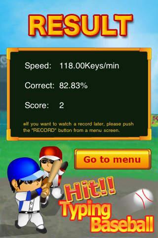 Hit!! Typing Baseballのスクリーンショット_4