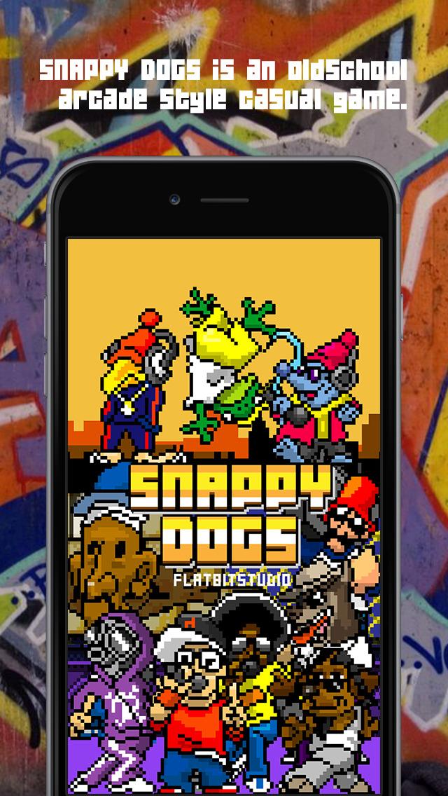 SNAPPY DOGS | 8bitでヒップホップなカジュアルゲームのスクリーンショット_1