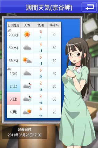 萌えテレ(日向四月咲/声優:沢城みゆき) 天気・占いのスクリーンショット_5