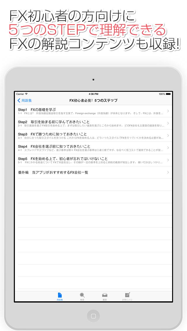 FX用語集アプリ for iPadのスクリーンショット_3