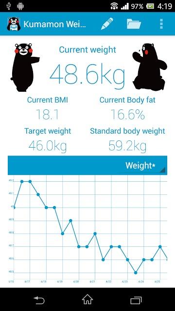 くまモンで体重管理のスクリーンショット_3