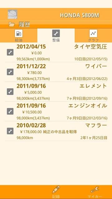 nenpi β - 燃費・愛車管理のスクリーンショット_5