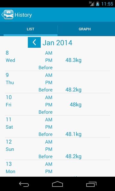 peso - ダイエット・体重管理のスクリーンショット_5