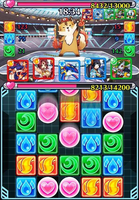 【対戦パズルRPG】モンスターパズルアドベンチャーのスクリーンショット_5
