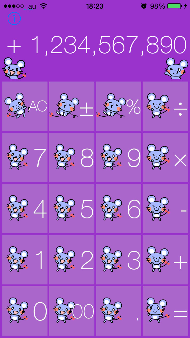 かわいいネズミの電卓のスクリーンショット_5