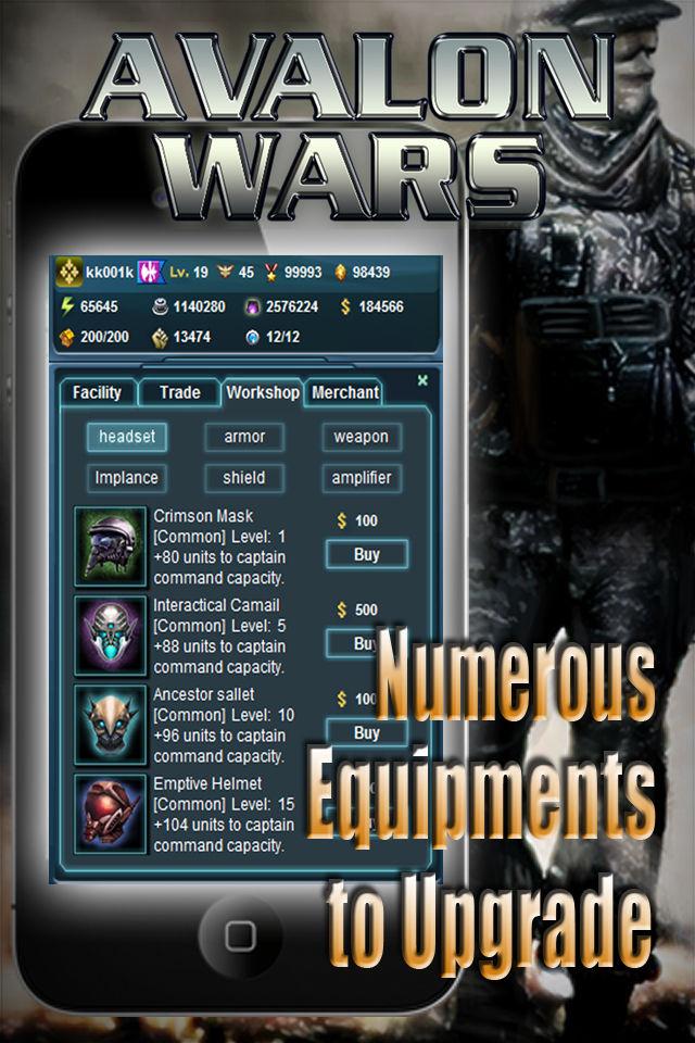 Avalon Warsのスクリーンショット_4