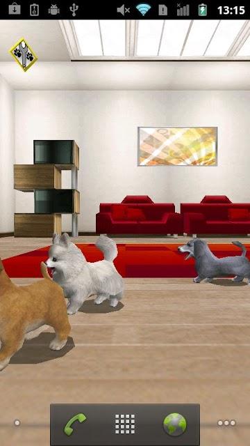 おでかけワンコ ライブ壁紙 無料版(かわいい犬ペット!)のスクリーンショット_1