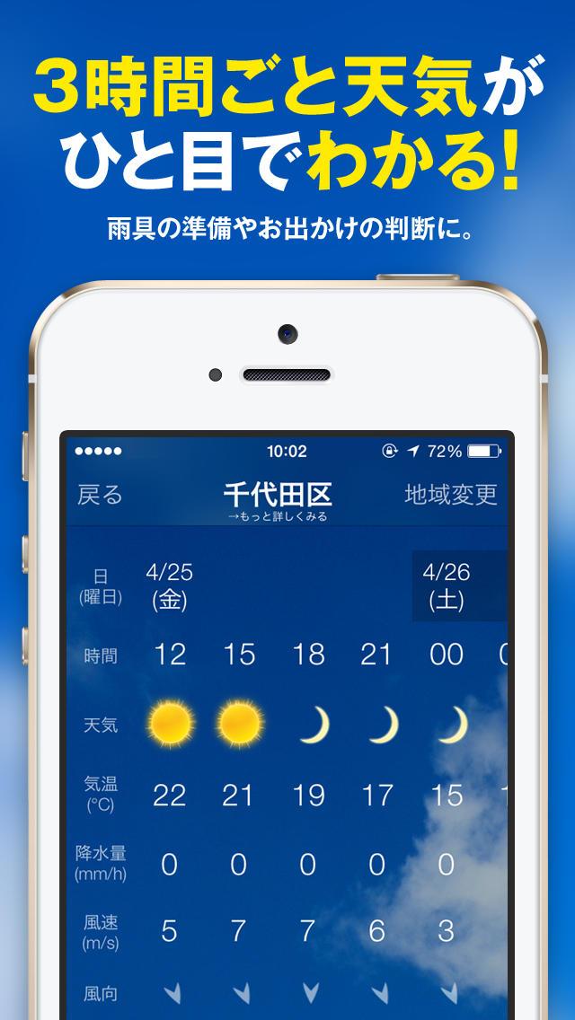 目覚まし・天気予報・朝刊ニュースがひとつになった、便利な目覚ましアプリ「天気時計+」のスクリーンショット_3