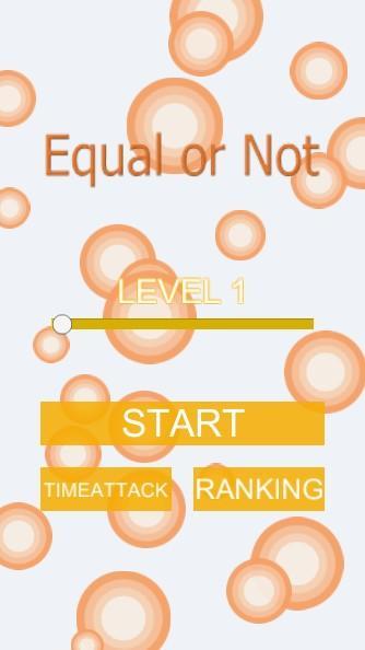 Equal or Notのスクリーンショット_3
