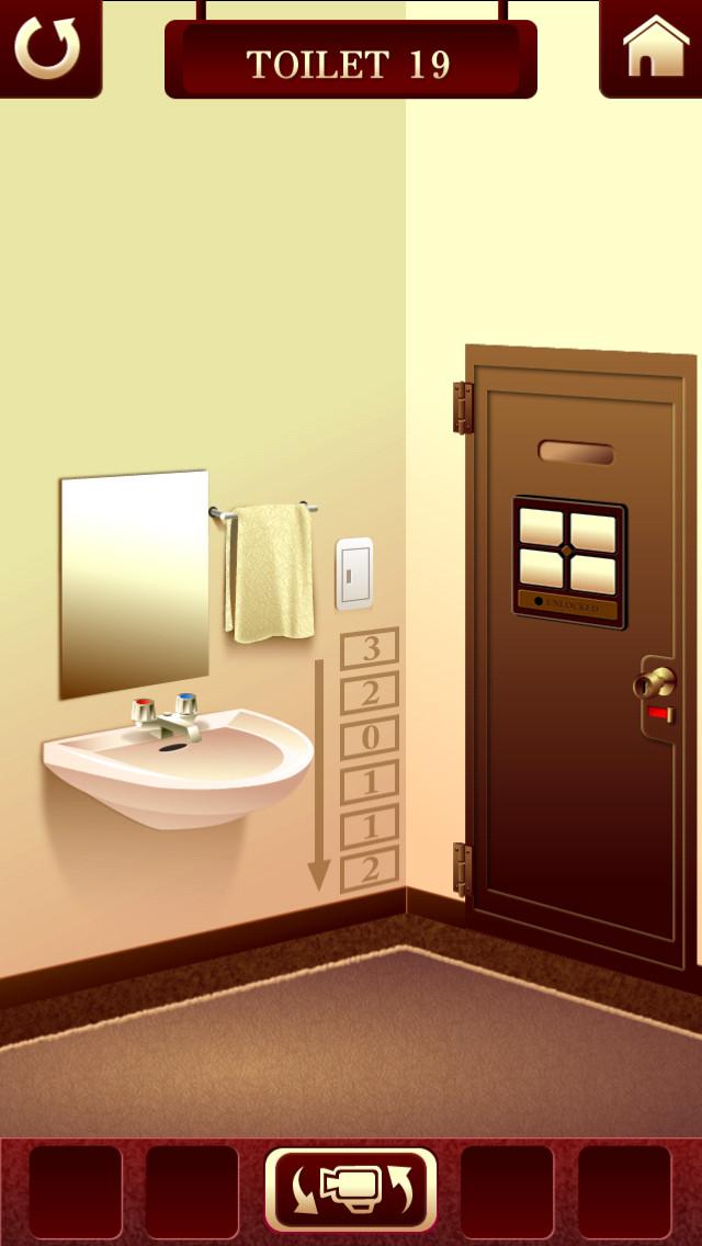 """脱出ゲーム """"100 Toilets""""のスクリーンショット_4"""
