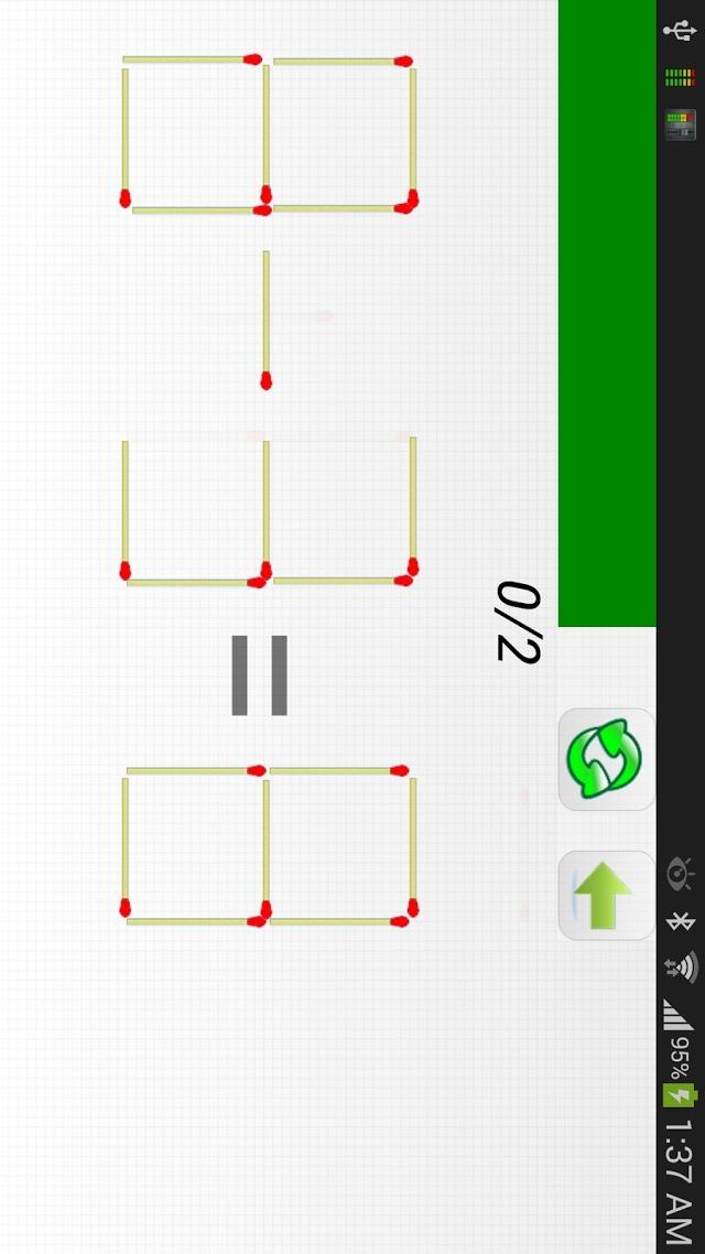 マッチ棒パズルのスクリーンショット_3