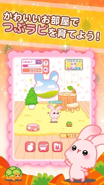 つぶラビ!〜かわいいうさぎの育成ゲームのスクリーンショット_2