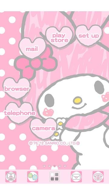 [マイメロディ]キャラクターホームテーマ(mym002)のスクリーンショット_2