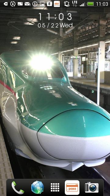 日本の鉄道車両 時計付きライブ壁紙のスクリーンショット_1