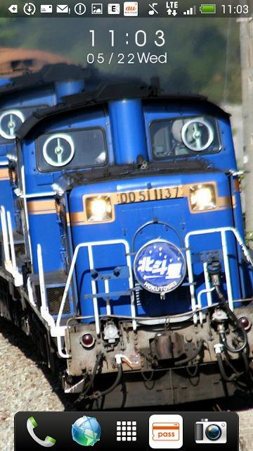 日本の鉄道車両 時計付きライブ壁紙のスクリーンショット_2