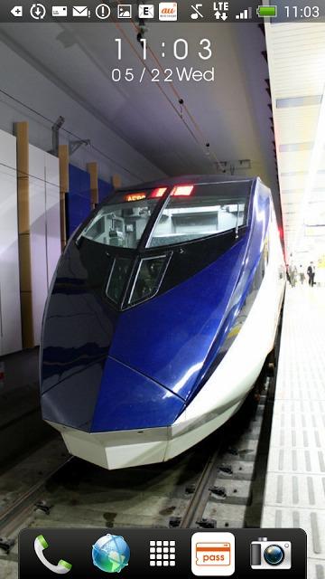 日本の鉄道車両 時計付きライブ壁紙のスクリーンショット_4