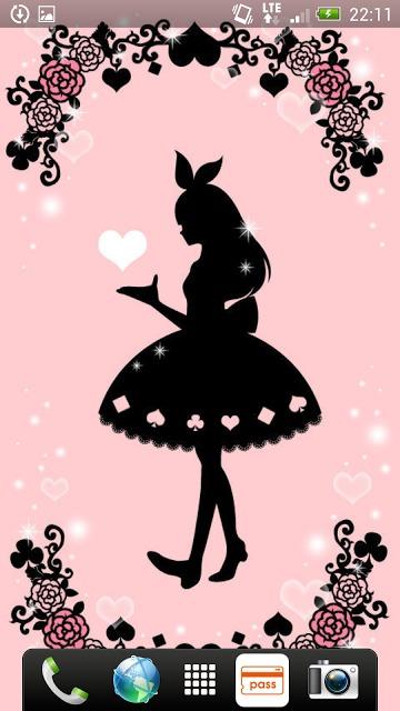 Aliceシリーズ☆ シルエット ライブ壁紙のスクリーンショット_2
