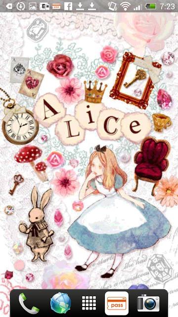 Aliceシリーズ☆Alice&Rabbit ライブ壁紙のスクリーンショット_1