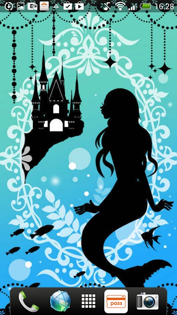 Silhouette of Mermaid ライブ壁紙のスクリーンショット_3
