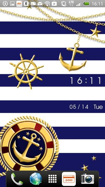 BLUE MARINE 時計付きライブ壁紙のスクリーンショット_1