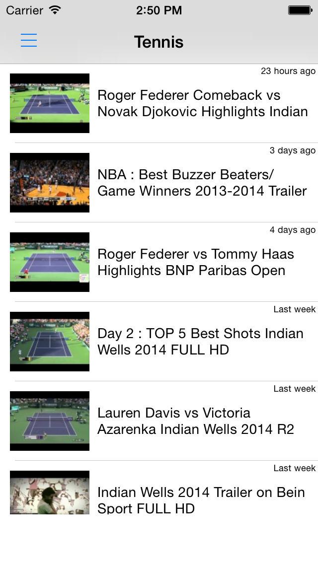 テニス動画まとめ - 試合結果やハイライトを動画でチェック!のスクリーンショット_1