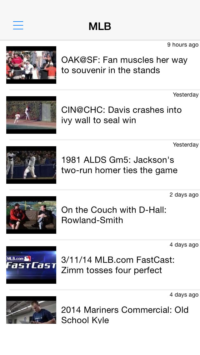 野球動画まとめ - 試合結果やハイライトを動画でチェック!のスクリーンショット_1