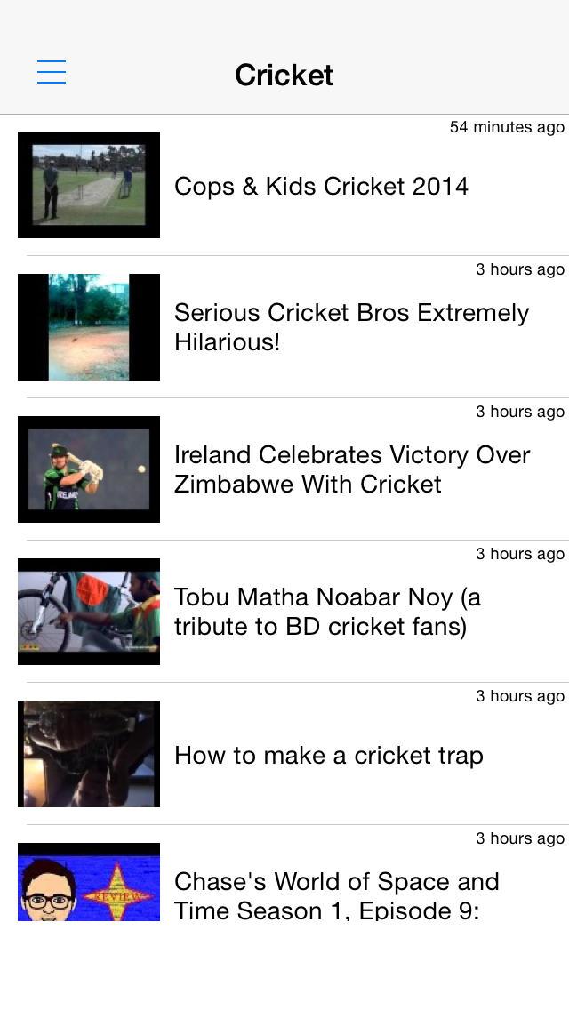 クリケット動画まとめ - 試合結果やハイライトを動画でチェック!のスクリーンショット_1