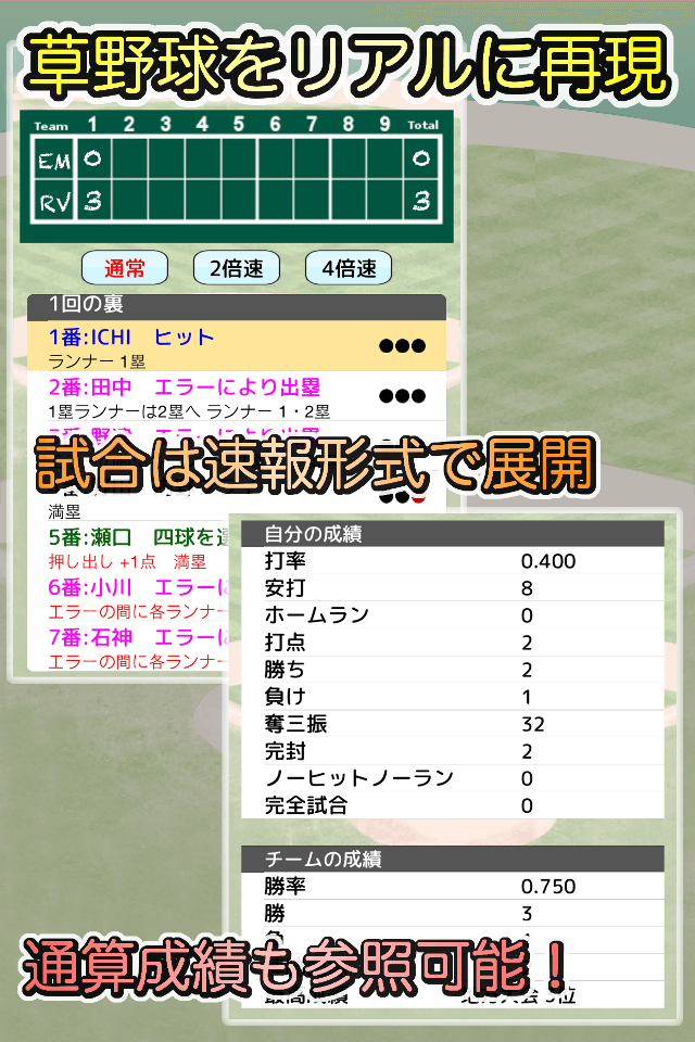 草野球チームを作ろう! -放置育成型シミュレーション-のスクリーンショット_2