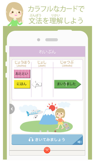 VLJ 文法アプリLite 初級1 日本語 学習  ---Visual Learning .Japanese---のスクリーンショット_2
