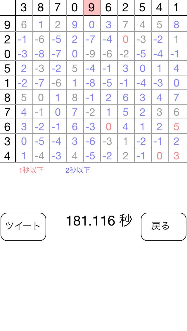 100マス計算のスクリーンショット_3